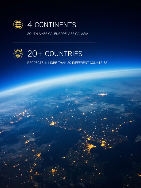 More than 10.000 projects in more than 20 countries